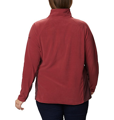 Women's Glacial™ IV 1/2 Zip - Plus Size Glacial™ IV 1/2 Zip | 430 | 1X, Marsala Red, Malbec, back