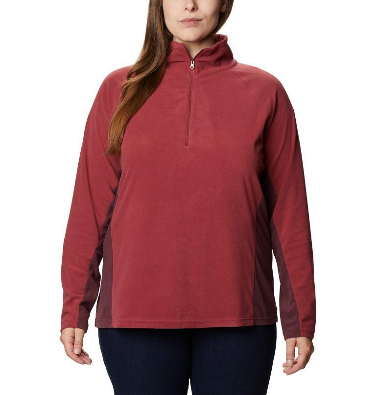 Glacial™ IV 1/2 Zip | 619 | 1X Women's Glacial™ IV 1/2 Zip - Plus Size, Marsala Red, Malbec, front