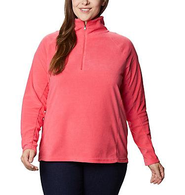Women's Glacial™ IV 1/2 Zip - Plus Size Glacial™ IV 1/2 Zip | 430 | 1X, Bright Geranium, front