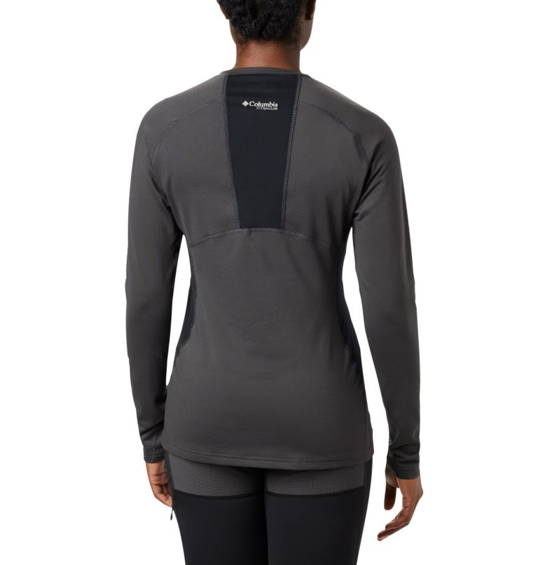 Omni-Heat 3D™ Knit Crew Top | 011 | S Women's Titanium OH3D™ Knit Crew Top, Shark, Black, back