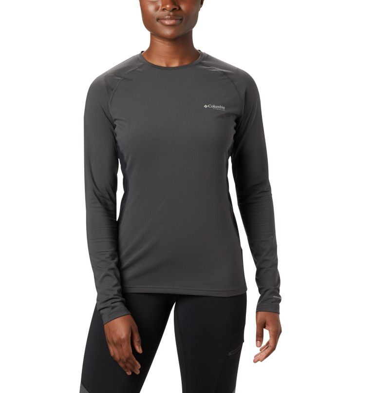 Omni-Heat 3D™ Knit Crew Top | 011 | S Women's Titanium OH3D™ Knit Crew Top, Shark, Black, front