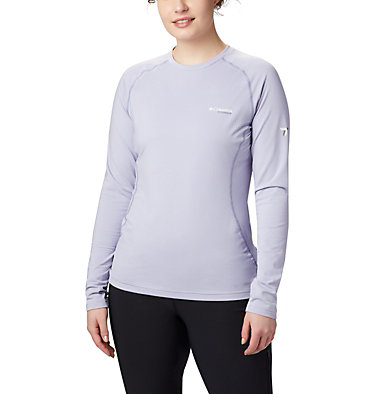 Titanium OH3D™ Strick-Top mit Rundhalsausschnitt für Damen Omni-Heat 3D™ Knit Crew Top | 580 | L, Twilight, Dusty Iris, front