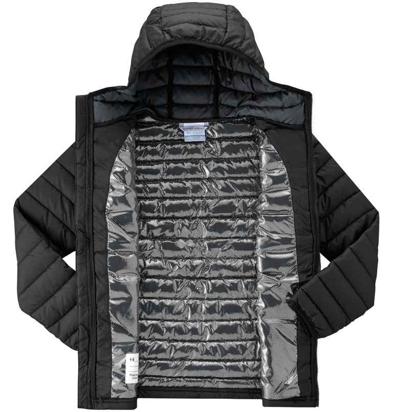 Powder Lite™ Boys Hooded Jacke | 010 | XS Powder Lite™ Boys Hooded Jacket, Black, a2