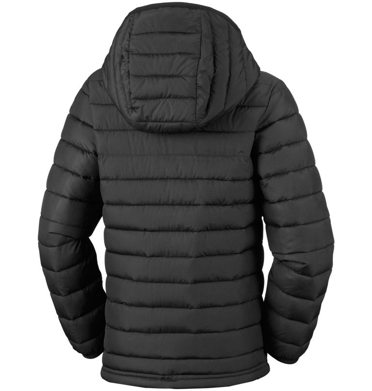 Powder Lite™ Boys Hooded Jacke | 010 | XS Powder Lite™ Boys Hooded Jacket, Black, back
