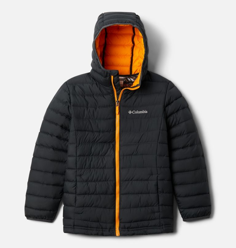 Powder Lite™ Boys Hooded Jacket | 011 | S Giacca con cappuccio Powder Lite™ da Ragazzo, Shark, front