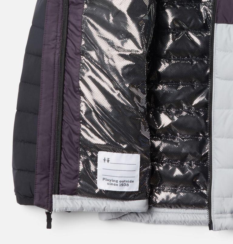 Powder Lite™ Boys Hooded Jacket | 039 | S Giacca con cappuccio Powder Lite™ da Ragazzo, Columbia Grey, Dark Purple, Black, a1
