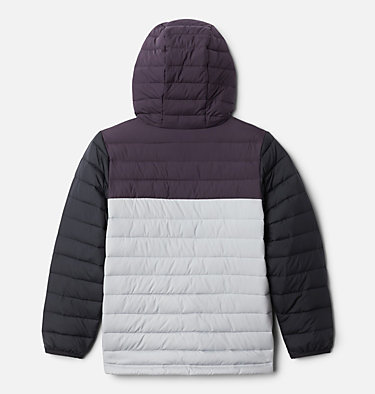 Veste À Capuche Powder Lite™ Garçon Powder Lite™ Boys Hooded Jacket | 011 | XS, Columbia Grey, Dark Purple, Black, back