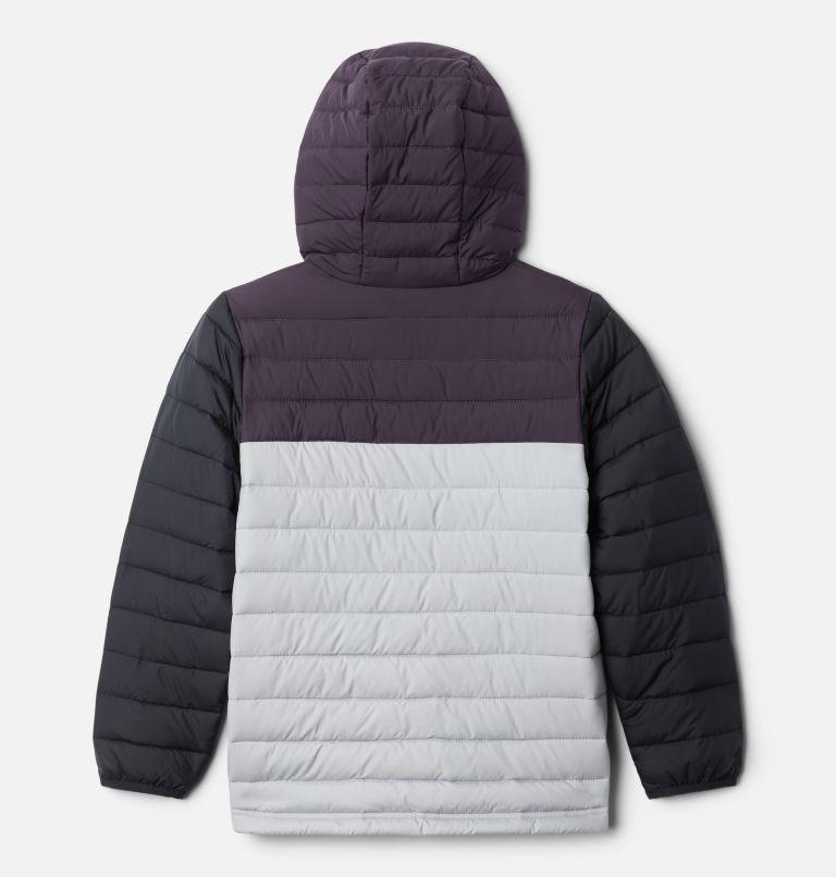 Powder Lite™ Boys Hooded Jacket | 039 | S Giacca con cappuccio Powder Lite™ da Ragazzo, Columbia Grey, Dark Purple, Black, back
