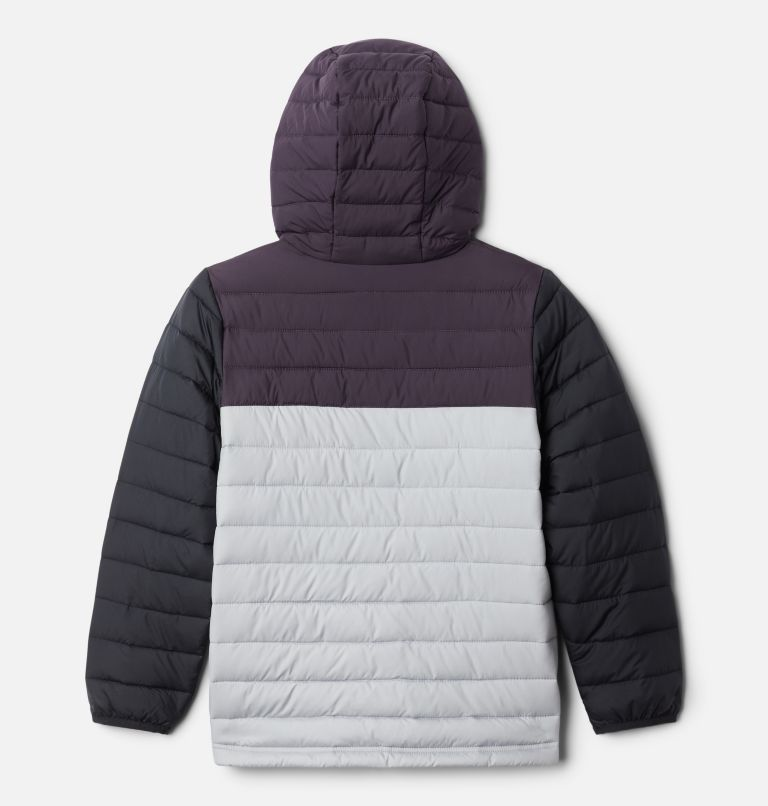 Powder Lite™ Boys Hooded Jacket | 039 | M Giacca con cappuccio Powder Lite™ da Ragazzo, Columbia Grey, Dark Purple, Black, back