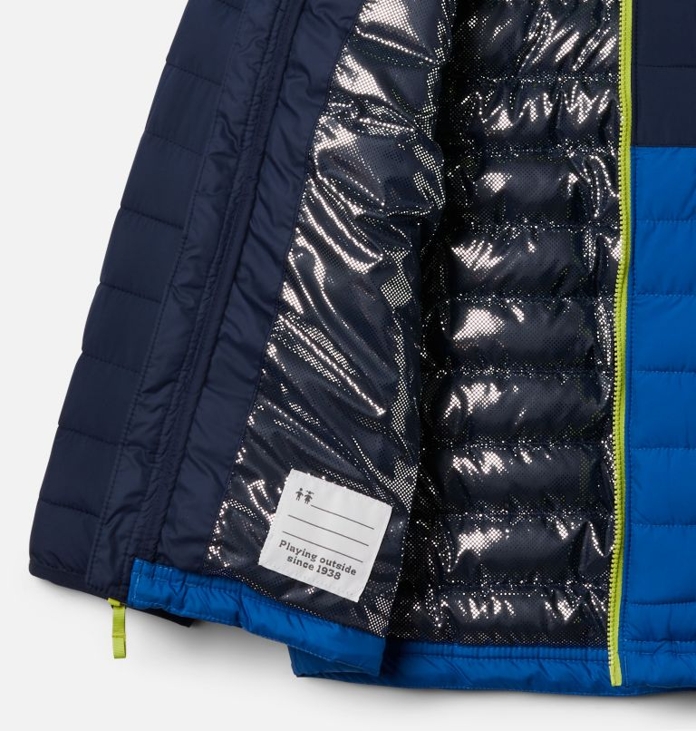 Powder Lite™ Boys Hooded Jacket | 432 | M Giacca con cappuccio Powder Lite™ da Ragazzo, Bright Indigo, Collegiate Navy, a1