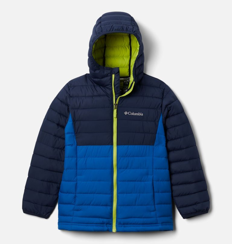 Powder Lite™ Boys Hooded Jacket | 432 | M Giacca con cappuccio Powder Lite™ da Ragazzo, Bright Indigo, Collegiate Navy, front