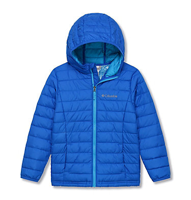 Powder Lite™ Boys Hooded Jacket Powder Lite™ Boys Hooded Jacket | 011 | XS, Super Blue, front