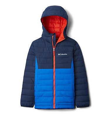 Powder Lite™ Boys Hooded Jacket Powder Lite™ Boys Hooded Jacket | 011 | XS, Super Blue, Collegiate Navy, front