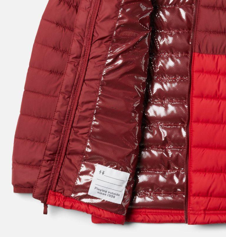 Powder Lite™ Boys Hooded Jacket | 614 | S Giacca con cappuccio Powder Lite™ da Ragazzo, Mountain Red, Red Jasper, a1