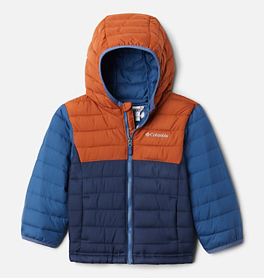Powder Lite Kapuzenjacke für Kinder – Jungen Powder Lite™ Boys Hooded Jacket | 039 | 2T, Coll Navy, Dark Adobe, Night Tide, front