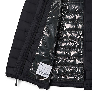 Boys' Powder Lite™ Hooded Jacket Powder Lite™ Boys Hooded Jacket | 614 | XS, Black, a1