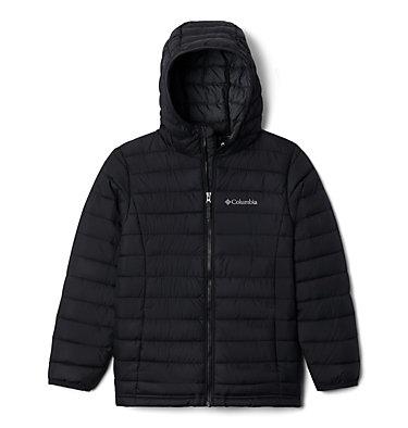 Boys' Powder Lite™ Hooded Jacket Powder Lite™ Boys Hooded Jacket | 614 | XS, Black, front