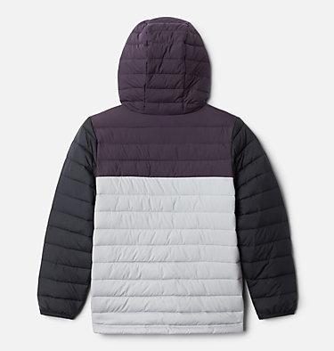 Boys' Powder Lite™ Hooded Jacket Powder Lite™ Boys Hooded Jacket | 432 | L, Columbia Grey, Dark Purple, Black, back