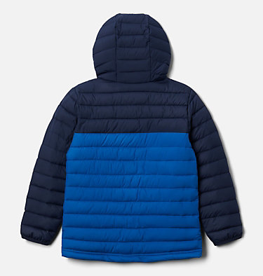 Boys' Powder Lite™ Hooded Jacket Powder Lite™ Boys Hooded Jacket | 432 | L, Bright Indigo, Collegiate Navy, back