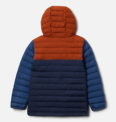 Boys' Powder Lite™ Hooded Jacket Powder Lite™ Boys Hooded Jacket | 432 | L, Coll Navy, Dark Adobe, Night Tide, back