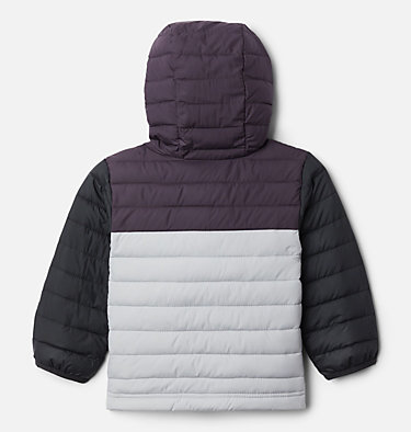 Boys' Toddler Powder Lite™ Hooded Jacket Powder Lite™ Boys Hooded Jacket | 432 | 2T, Columbia Grey, Dark Purple, Black, back