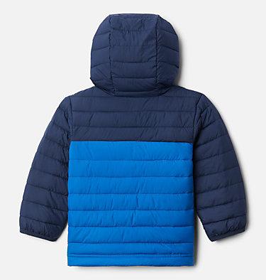 Boys' Toddler Powder Lite™ Hooded Jacket Powder Lite™ Boys Hooded Jacket | 432 | 2T, Bright Indigo, Collegiate Navy, back