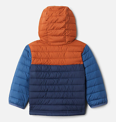 Boys' Toddler Powder Lite™ Hooded Jacket Powder Lite™ Boys Hooded Jacket | 432 | 2T, Coll Navy, Dark Adobe, Night Tide, back