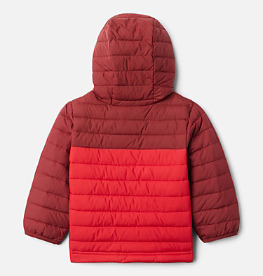 Boys' Toddler Powder Lite™ Hooded Jacket Powder Lite™ Boys Hooded Jacket | 432 | 2T, Mountain Red, Red Jasper, back