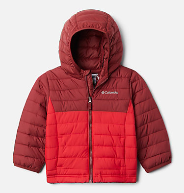 Boys' Toddler Powder Lite™ Hooded Jacket Powder Lite™ Boys Hooded Jacket | 432 | 2T, Mountain Red, Red Jasper, front