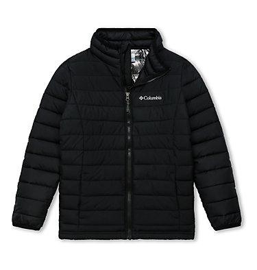 Powder Lite™ für Jungen Powder Lite™ Boys Jacket | 010 | L, Black, front