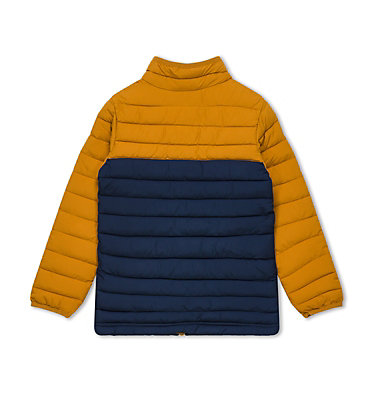 Powder Lite™ für Jungen Powder Lite™ Boys Jacket | 010 | L, Collegiate Navy, Canyon Gold, back