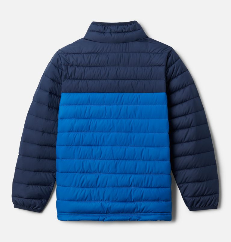 Powder Lite™ Boys Jacket | 468 | M Powder Lite™ Boys Jacket, Collegiate Navy, Bright Indigo, back