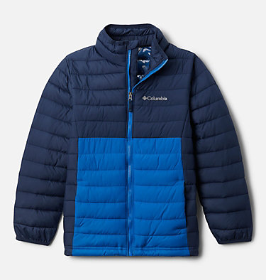 Powder Lite™ für Jungen Powder Lite™ Boys Jacket | 010 | L, Collegiate Navy, Bright Indigo, front