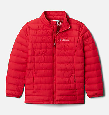 Powder Lite™ für Jungen Powder Lite™ Boys Jacket | 010 | L, Mountain Red, front