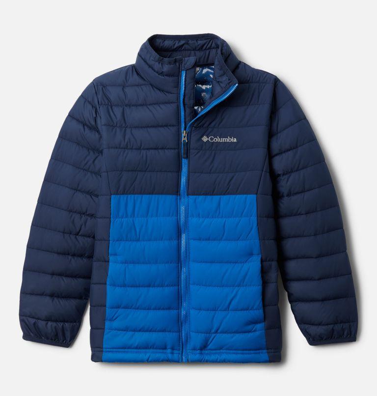 Powder Lite™ Boys Jacket | 468 | S Boys' Powder Lite™ Jacket, Collegiate Navy, Bright Indigo, front