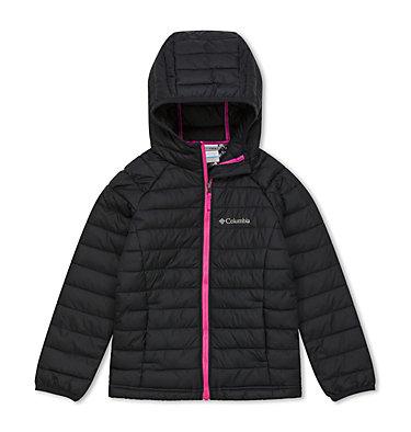 Powder Lite™ Kapuzenjacke für Mädchen Powder Lite™ Girls Hooded Jacket | 012 | XS, Black, front