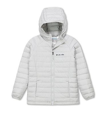 Powder Lite™ Kapuzenjacke für Mädchen Powder Lite™ Girls Hooded Jacket | 012 | XS, Silver Grey, front