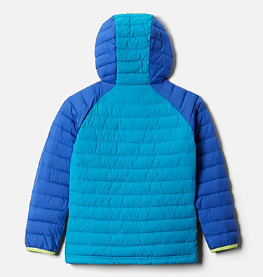 Powder Lite™ Kapuzenjacke für Mädchen Powder Lite™ Girls Hooded Jacket | 012 | XS, Lapis Blue, Fjord Blue, back