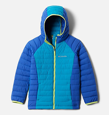 Powder Lite™ Kapuzenjacke für Mädchen Powder Lite™ Girls Hooded Jacket | 012 | XS, Lapis Blue, Fjord Blue, front