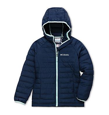 Powder Lite™ Kapuzenjacke für Mädchen Powder Lite™ Girls Hooded Jacket | 012 | XS, Nocturnal, front