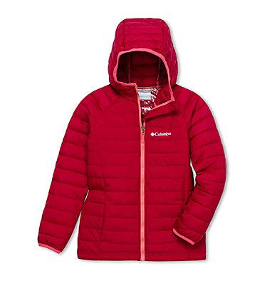 Powder Lite™ Kapuzenjacke für Mädchen Powder Lite™ Girls Hooded Jacket | 012 | XS, Pomegranate, front