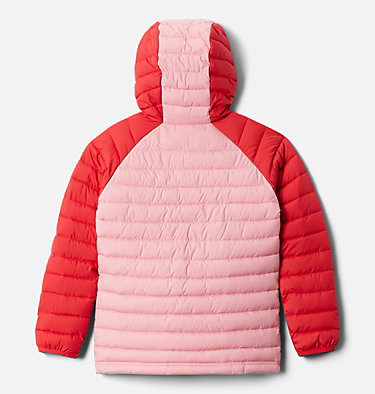 Powder Lite™ Kapuzenjacke für Mädchen Powder Lite™ Girls Hooded Jacket | 012 | XS, Red Lily, Pink Orchid, back