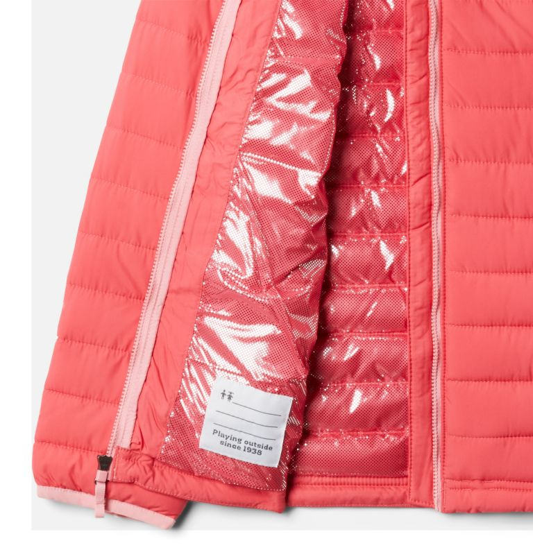 Powder Lite™ Girls Hooded Jacket | 673 | XL Powder Lite™ Girls Hooded Jacket, Bright Geranium, a1