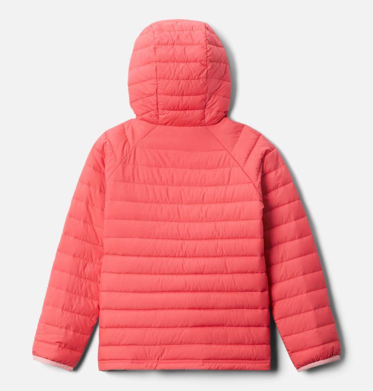 Powder Lite™ Girls Hooded Jacket | 673 | XL Powder Lite™ Girls Hooded Jacket, Bright Geranium, back