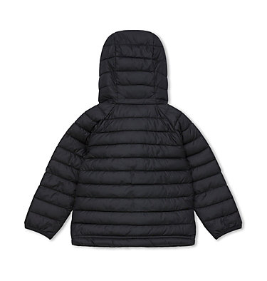 Toddlers' Powder Lite™ Hooded Jacket - Girls Powder Lite™ Girls Hooded Jack | 011 | 2T, Black, back