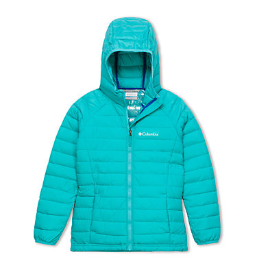 Toddlers' Powder Lite™ Hooded Jacket - Girls Powder Lite™ Girls Hooded Jack | 011 | 2T, Geyser, front