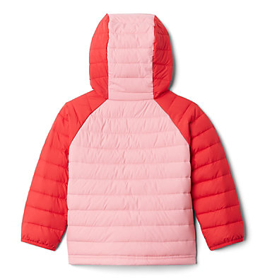 Veste À Capuche Powder Lite™ Fillette Powder Lite™ Girls Hooded Jacket | 356 | 2T, Red Lily, Pink Orchid, back