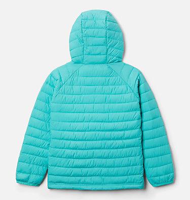 Girls' Powder Lite™ Hooded Jacket Powder Lite™ Girls Hooded Jacket | 658 | XXS, Dolphin, back