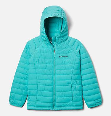 Girls' Powder Lite™ Hooded Jacket Powder Lite™ Girls Hooded Jacket | 658 | XXS, Dolphin, front