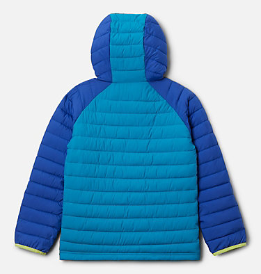 Girls' Powder Lite™ Hooded Jacket Powder Lite™ Girls Hooded Jacket | 410 | XL, Lapis Blue, Fjord Blue, back